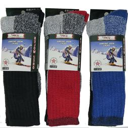 Mens Womens Thermal Socks 6 Pairs Heavy Extreme Cold Weather