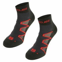 Salomon Mens XA Pro Running 2 Pack Socks Arch Support Mesh S