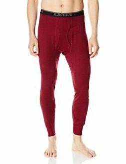 Duofold Men's Mid Weight Wicking Thermal Pant, Bordeaux Red,