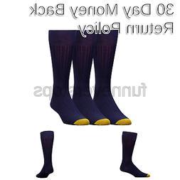 Gold Toe Men's Milan  Dress Sock, Navy, 10-13