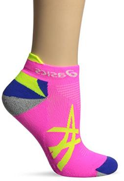 ASICS Mix Up Your Run Low Cut Sock, Small, Pink Glow/Safety