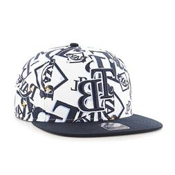 MLB Tampa Bay Rays Bravado Captain Adjustable Snapback Hat,