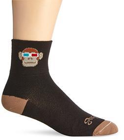 SockGuy Men's Monkey See 3D Socks, Black,S/M