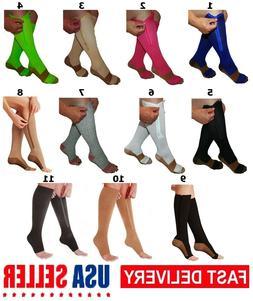 Mr Komfort Zipper Close & Open Toe Copper Compression Sock W