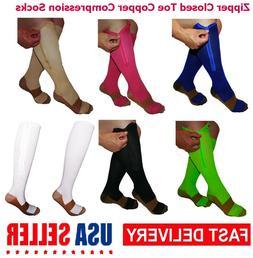 Mr Komfort Zipper Close Toe Compression Sock For Nurses Wome