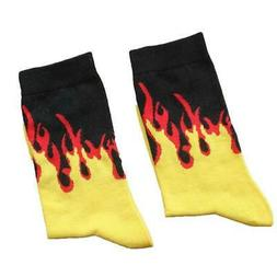 Multi-color Socks with Flame Pattern