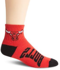 NBA Chicago Bulls Men's Team Quarter Socks, Medium