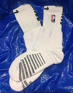 Nike NBA Cushion White and Green Crew Socks Size L Authentic