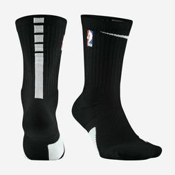 NIKE NBA ELITE Crew Dri-Fit Cushioned BASKETBALL Black SOCKS