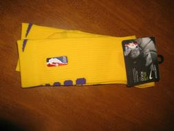 NBA Nike Elite Crew White Black Basketball Socks SIZE: LARGE