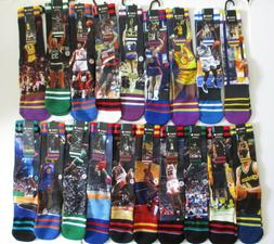 Stance NBA Legends Socks Mens L/XL NWT Ewing Shaq Rodman Kem