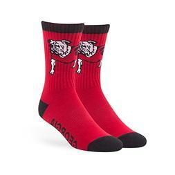 NCAA Georgia Bulldogs '47 Bolt Sport Socks, Red, Large , 1-P