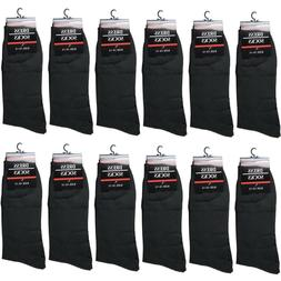 new 12 pairs mens all black dress