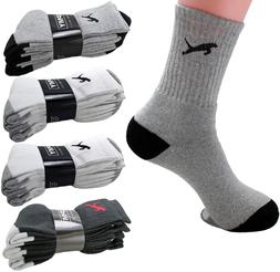 New 3 6 12 Pairs Mens Sports Athletic Crew Socks Cotton Clas
