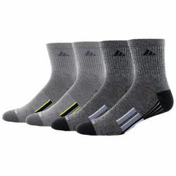 NEW! 4-PACK ADIDAS LOGO Men's Performance ANKLE SOCK Cool +