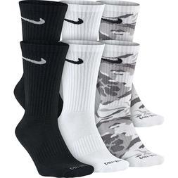 NEW Nike 6-Pack Dri-FIT Cushioned Crew Unisex Adult Socks SX