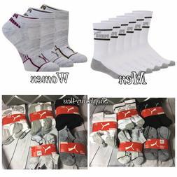 New PUMA 6 Pair: Crew Sock CUSHIONED socks for MEN, Lowcut s