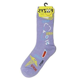 New FOOZYS Brand NURSE PATTERN Novelty Crew Socks Bandaid, S
