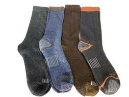 New Dickies Crew Socks Lot of 4 Mens Large 9-12 Gray Blue Br