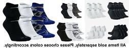 NEW Nike Dri Fit Unisex White/Black/Camo No Show Socks 6 Pr