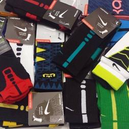 new elite cushioned basketball crew socks size