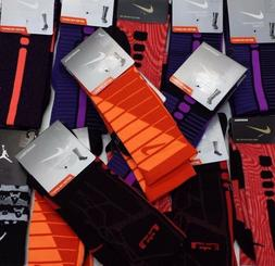 New Nike Elite-Cushioned Basketball Crew Socks Size L 8-12 -
