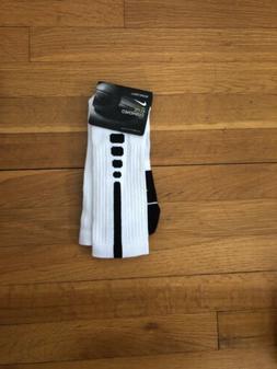 New* Nike Elite Socks Rare** Large White/Black One Pair Dead