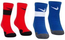 New Jordan Nike Little Boys 2-Pack Elite Crew Socks Choose C