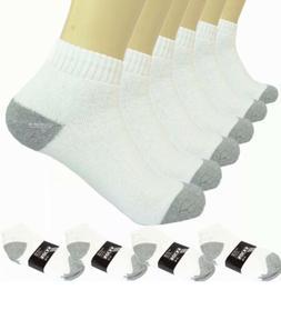 New Lot 3-12 Pairs Ankle Quarter Crew Men Sport Socks White