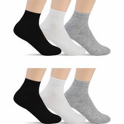 New Lot 6-12 Pairs Ankle Quarter Crew Men Women Thin Socks C