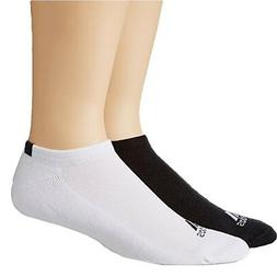 NEW Men's Adidas Everyday Low Cut Socks White/Black You Pick