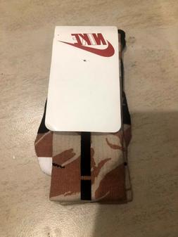 New Mens Nike Elite Cushioned Basketball Crew Socks Desert A