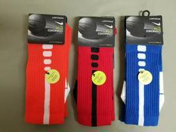 New Mens Nike Elite Cushioned Basketball Crew Socks.