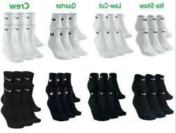 NEW Nike Performance Cotton NoShow/Lo/Quarter/Crew Socks Men