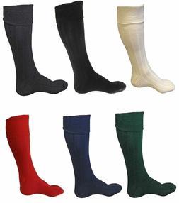 New Scottish Irish  Kilt Hose Socks Men Sporrans Flashes In