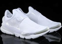 New Nike Sock Dart KJCRD Triple White 819686-100 Men's Size