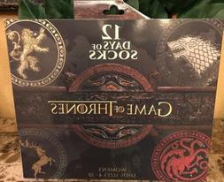 NEW Women's Game of Thrones 12 Days of Socks Gift Set Size 4