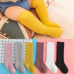 Newborn Baby Socks Solid Girl Boy Infant Knee High Socks Aut