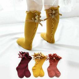 Newborn Baby Toddler Knee High Lace Cute Long Sock Boys Girl