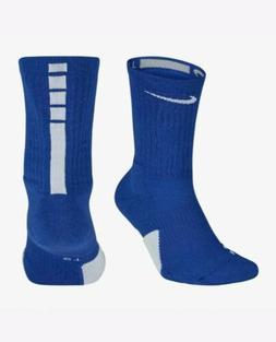 NIKE ELITE 1.5 BASKETBALL DRI-FIT SOCKS LARGE Royal BLUE CUS