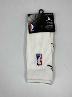Nike Jordan Elite NBA Basketball Crew Socks White/Black SX63