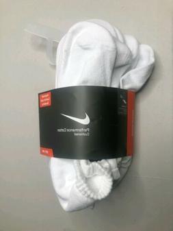 NIKE Performance Cushion No-Show Socks with Band  Large Whit