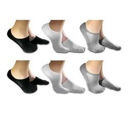 No Show Luxury Socks for Men and Women, 6 Pairs Comfort Hidd