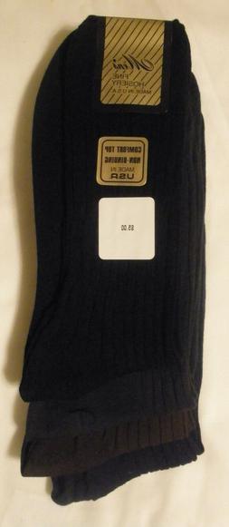 Non Binding Comfort Top 100% Cotton Dress Socks 3-6 Pairs Ma