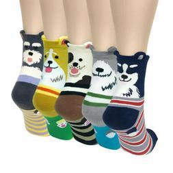 Wrapables Novelty Animal Print Crew Socks , Cute Doggy