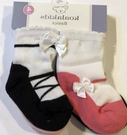 NWT 4 PAIR PACK OF BABY GIRL SOCKS SIZE 0-6 MONTHS