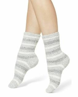 NWT Nordstrom Butter Pattern Crew Socks Grey Sparkle Multi S