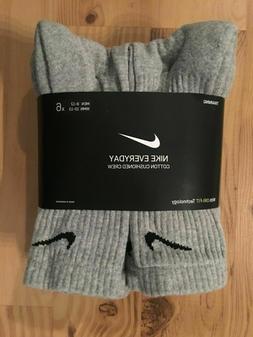 NWT Nike Everyday Men CREW Sock 3 or 6 Pair LARGE Sz 8-12 Dr