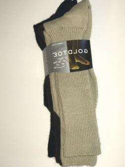 NWT Gold Toe Men's Acrylic Fluffies Casual Socks - 3 Pairs -