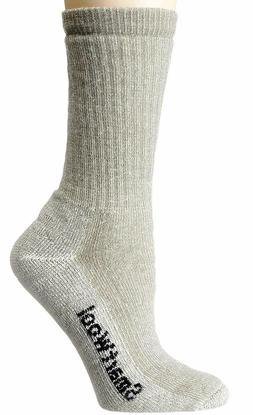 NWT SmartWool Men's Hike Medium Crew Merino Socks, Silver Gr